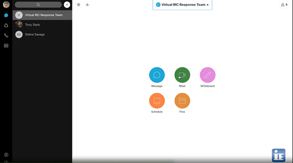 Meet with your virtual incident response team via Webex